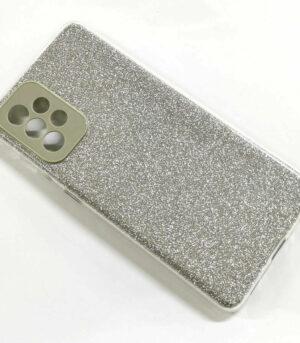 Glitzer Hülle Kameraschutz Samsung A12 A21S A52 A72 S20FE S21+Ultra Anti-Fall Silber