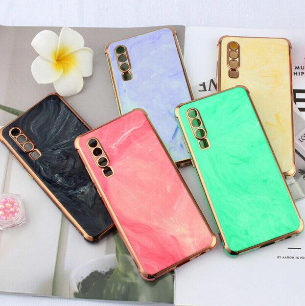 Mamor Handy Hülle Luxus iPhone TPU Case Cover Bamper Marble Design Kamera Schutz