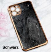 Mamor Handy Hülle Luxus iPhone TPU Case Cover Bamper Marble Design Kamera Schutz schwarz